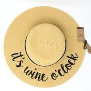 🎉HOST PICK🎉 NWT It's Wine O'Clock Sunhat